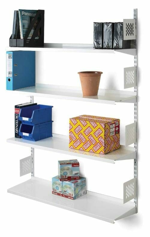 Wall mounted office shelving
