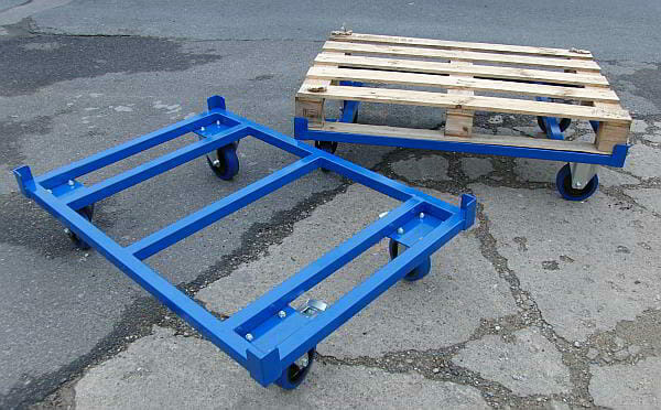 pallet dollys steel for euro pallets