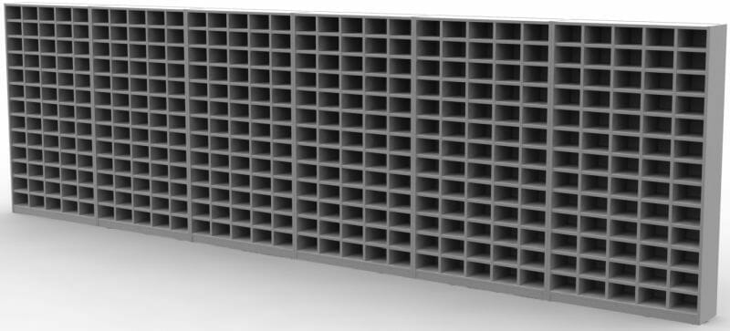 390 wooden pigeon hole compartments