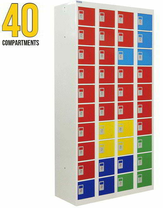 personal effects lockers 40 compartments