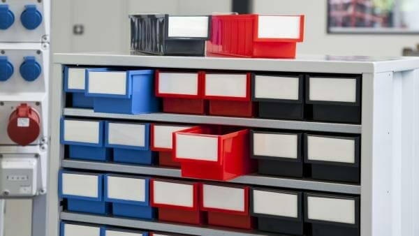 ESD small parts storage cabinets