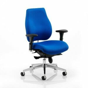 Chiro Plus Ergo Posture Chair with Arms Blue
