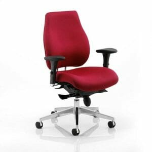 Chiro Plus Ergo Posture Chair with Arms Wine